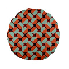 Modernist Geometric Tiles Standard 15  Premium Flano Round Cushions