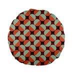 Modernist Geometric Tiles Standard 15  Premium Flano Round Cushions Back