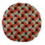 Modernist Geometric Tiles Large 18  Premium Flano Round Cushions