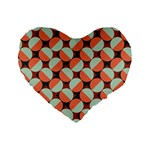 Modernist Geometric Tiles Standard 16  Premium Flano Heart Shape Cushions