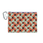 Modernist Geometric Tiles Canvas Cosmetic Bag (M)