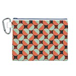 Modernist Geometric Tiles Canvas Cosmetic Bag (L)