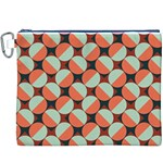 Modernist Geometric Tiles Canvas Cosmetic Bag (XXXL)