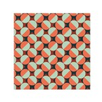 Modernist Geometric Tiles Small Satin Scarf (Square)