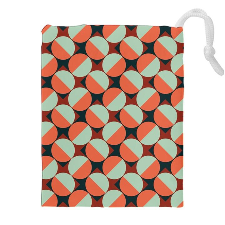 Modernist Geometric Tiles Drawstring Pouches (XXL)