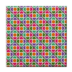 Modernist Floral Tiles Tile Coasters