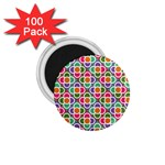 Modernist Floral Tiles 1.75  Magnets (100 pack)