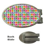 Modernist Floral Tiles Money Clips (Oval)
