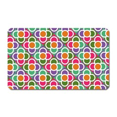 Modernist Floral Tiles Magnet (rectangular)