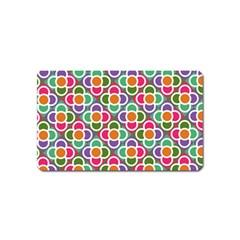 Modernist Floral Tiles Magnet (name Card) by DanaeStudio