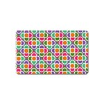 Modernist Floral Tiles Magnet (Name Card)