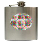 Modernist Floral Tiles Hip Flask (6 oz)