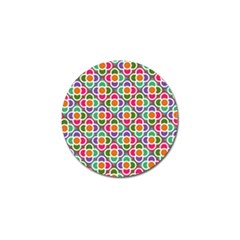 Modernist Floral Tiles Golf Ball Marker by DanaeStudio