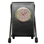 Modernist Floral Tiles Pen Holder Desk Clocks