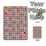 Modernist Floral Tiles Playing Cards 54 Designs  Front - DiamondJ
