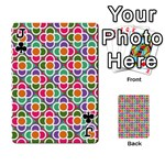 Modernist Floral Tiles Playing Cards 54 Designs  Front - ClubJ