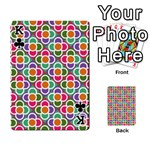 Modernist Floral Tiles Playing Cards 54 Designs  Front - ClubK