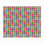 Modernist Floral Tiles Small Glasses Cloth (2-Side) Back