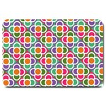 Modernist Floral Tiles Large Doormat