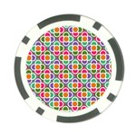 Modernist Floral Tiles Poker Chip Card Guards
