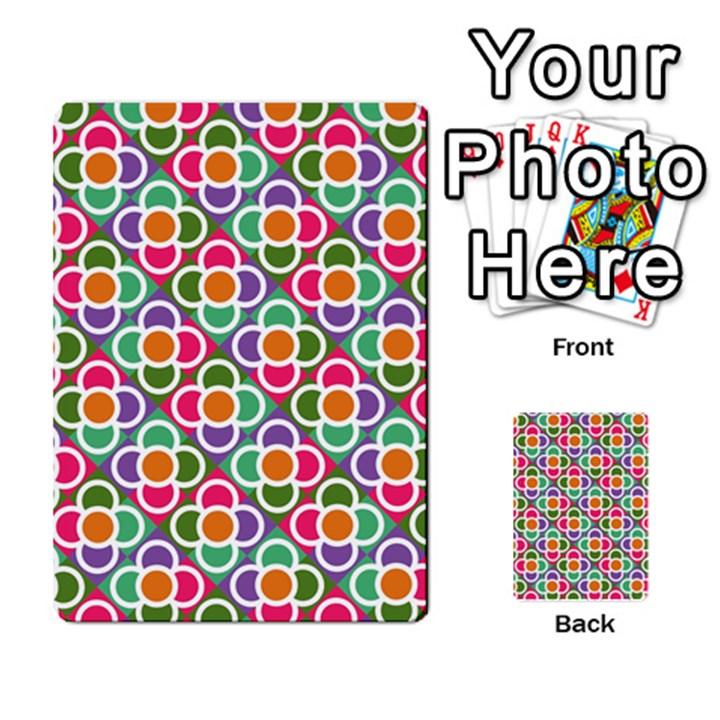 Modernist Floral Tiles Multi-purpose Cards (Rectangle)
