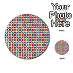 Modernist Floral Tiles Multi-purpose Cards (Round)  Back 45