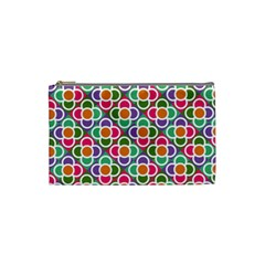 Modernist Floral Tiles Cosmetic Bag (small)  by DanaeStudio