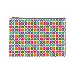 Modernist Floral Tiles Cosmetic Bag (Large)