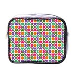 Modernist Floral Tiles Mini Toiletries Bags