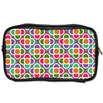 Modernist Floral Tiles Toiletries Bags