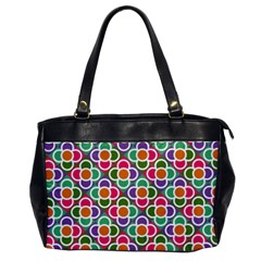 Modernist Floral Tiles Office Handbags by DanaeStudio