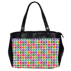 Modernist Floral Tiles Office Handbags (2 Sides)  by DanaeStudio