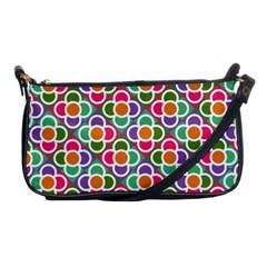 Modernist Floral Tiles Shoulder Clutch Bags
