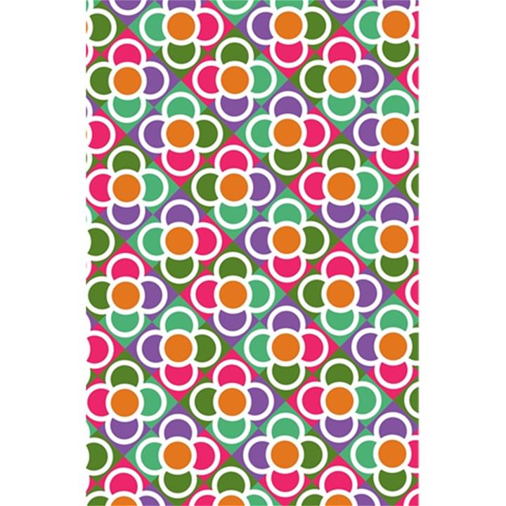 Modernist Floral Tiles 5.5  x 8.5  Notebooks