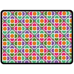 Modernist Floral Tiles Fleece Blanket (large)  by DanaeStudio