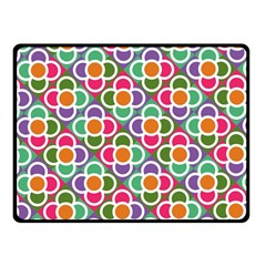 Modernist Floral Tiles Fleece Blanket (small)