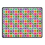 Modernist Floral Tiles Fleece Blanket (Small)
