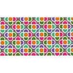 Modernist Floral Tiles Magic Photo Cubes Long Side 2