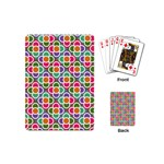 Modernist Floral Tiles Playing Cards (Mini)  Back