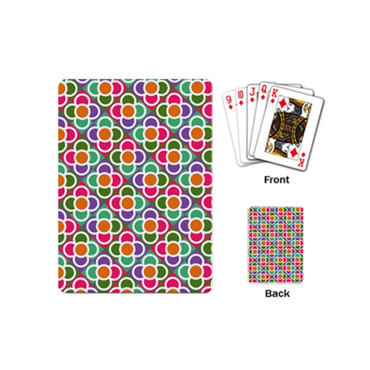 Modernist Floral Tiles Playing Cards (Mini)