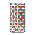 Modernist Floral Tiles Apple iPhone 4 Case (Black)