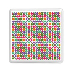 Modernist Floral Tiles Memory Card Reader (square)  by DanaeStudio