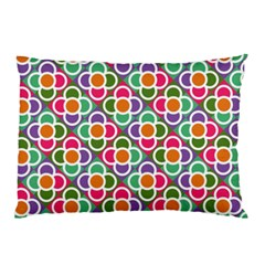 Modernist Floral Tiles Pillow Case (Two Sides)