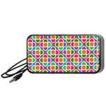 Modernist Floral Tiles Portable Speaker (Black)