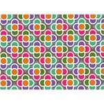 Modernist Floral Tiles LOVE Bottom 3D Greeting Card (7x5) Back