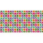 Modernist Floral Tiles BEST SIS 3D Greeting Card (8x4) Back