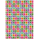 Modernist Floral Tiles Miss You 3D Greeting Card (7x5) Inside