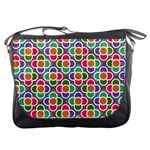 Modernist Floral Tiles Messenger Bags