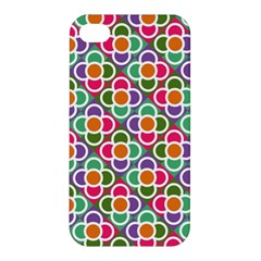 Modernist Floral Tiles Apple Iphone 4/4s Premium Hardshell Case by DanaeStudio