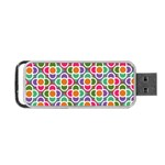 Modernist Floral Tiles Portable USB Flash (One Side)
